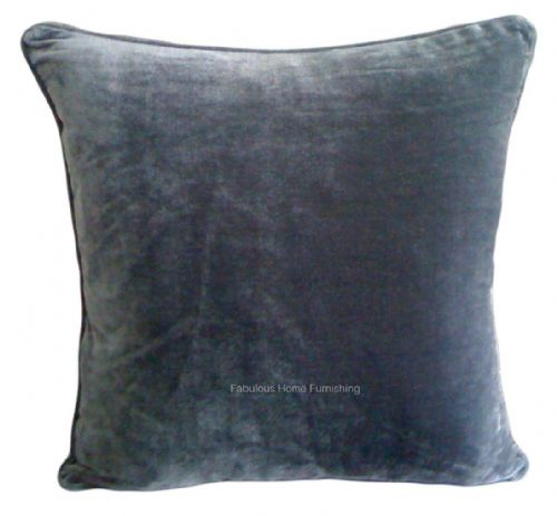 LARGE SIZE SOFT FEEL VELVET PLUSH STYLISH DESIGNER CUSHION COVER CHARCOAL COLOUR